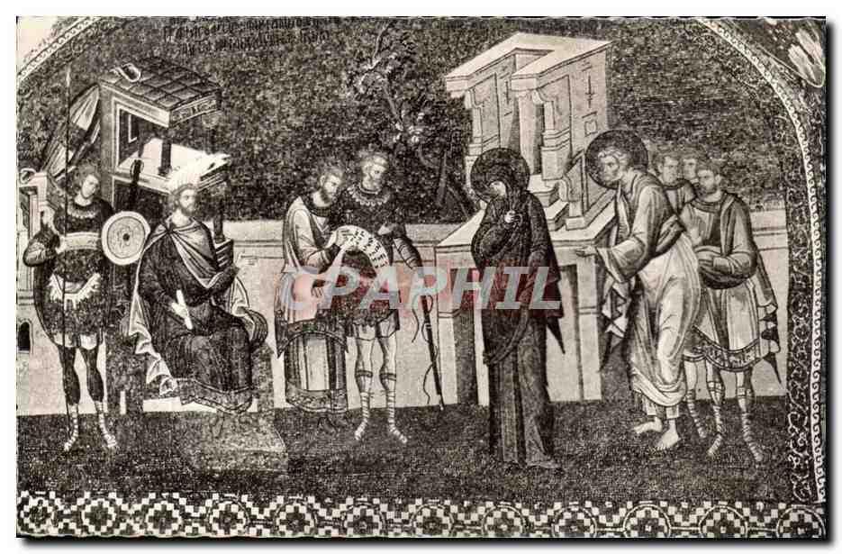 Carte Postale Ancienne Turquie Des Mille et Une Nuits Realisation de Merry Ottin Joseph et Marie au recensement a Bethleem
