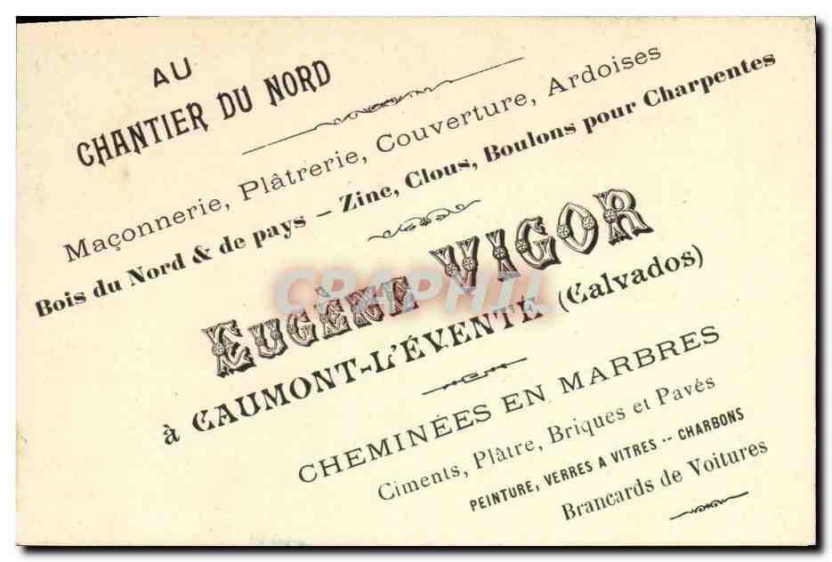 Carte De Visite Eugene Vigor Caumont LEvente