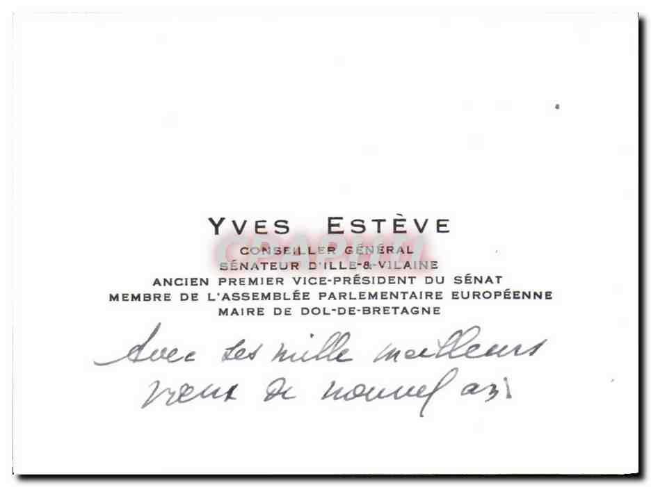 Carte De Visite Yves Esteve Conseiller General