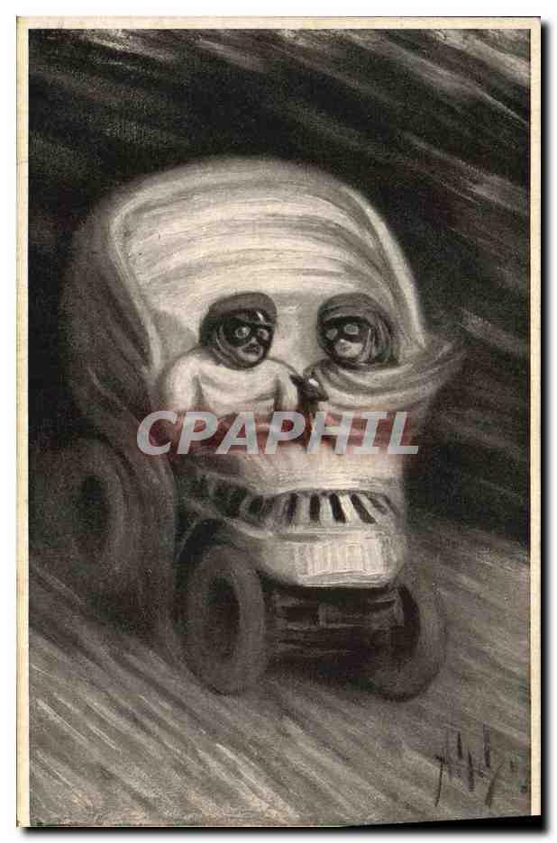 Carte Postale Ancienne Mort Crane Automobile   [ ]   Carte Postale Ancienne Mort Crane Automobile