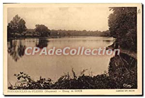 Carte Postale Ancienne Fougerolles Du Plessis Etang