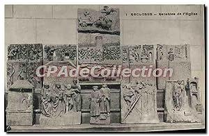 Carte Postale Ancienne Recloses Retables De I'Eglise