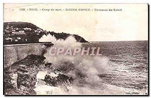 Carte Postale Ancienne Nice Coup de mer