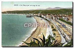 Carte Postale Ancienne Nice La Plage par