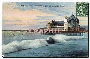 Carte Postale Ancienne Nice Jetée Promenade par