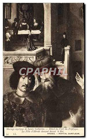 Carte Postale Ancienne Mariage myslique de Sainte