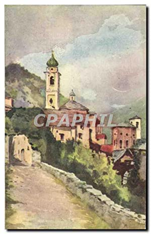 Carte Postale Ancienne F Fasolis Garessio Vocchio