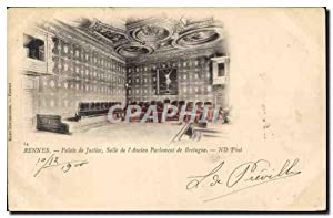 Carte Postale Ancienne Rennes Palais de Justice