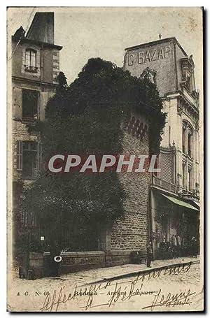 Carte Postale Ancienne Rennes Ancien Remparts