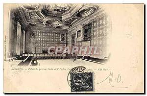 Carte Postale Ancienne Rennes Salle de l'Ancien