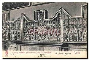 Carte Postale Ancienne Dijon Retables Chapelle Portative