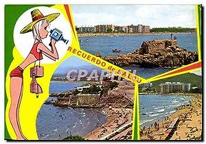 Carte Postale Moderne Salou Playas Beaches Plages