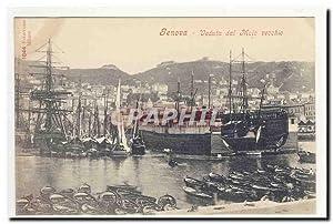 GENES GENOVA veduta dal meio vecchio Port