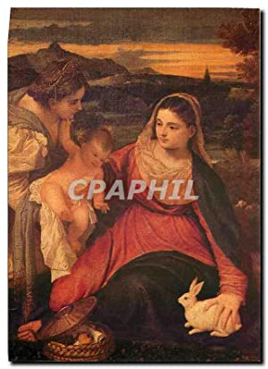 Carte Postale Moderne Tizian La Vierge au