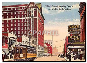 Carte Postale Moderne Third Street looking South from Wells Milwaukee