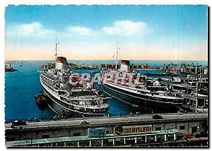 Carte Postale Moderne Genova Transatlantic Steamers in
