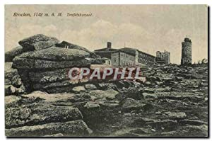 Carte Postale Ancienne Brocken Teufelskanzel