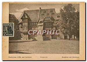 Carte Postale Moderne Castle Lion and Guildhall Brunswick Burglowe mit Gildehaus