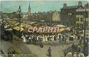 Carte Postale Ancienne The Market Place Great Yarmouth