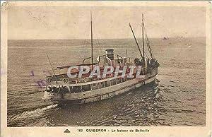 Carte Postale Ancienne Quiberon - Le bateau