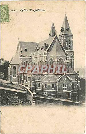 Carte Postale Ancienne Eglise Ste Julienne Verviers