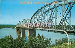 Carte Postale Ancienne One of the grâceful bridges spanning the Mississippi river