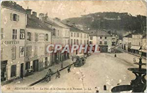 Carte Postale Ancienne Remiremont La Place de