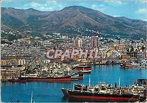 Carte Postale Moderne Genova Port et panorama