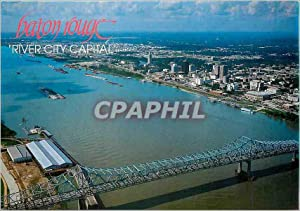 Carte Postale Moderne Baton Rouge and the Mississippi River Bridge in 1699 Bienville charted it
