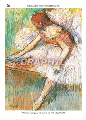 Carte Postale Moderne The Readers Digest Association Inc Danseuse rose pastel Edgar Degas