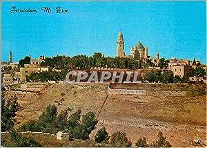 Carte Postale Moderne Jerusalem Mt Sion vue