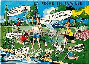 Carte Postale Moderne En Famille La Peche