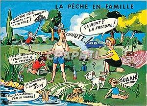 Carte Postale Moderne La Peche en Famille