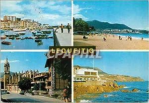 Carte Postale Moderne Lequeitio Vizcaya Puerto Playa