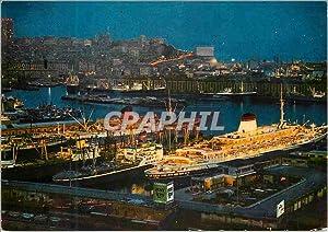 Carte Postale Moderne Genova le port nocturne