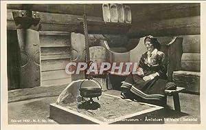 Carte Postale Ancienne Norsk Folkemuseum Amlistuen fra