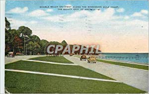 Carte Postale Moderne Double Beach Driveway Along the Mississippi Gulf Coast The beauty spot of A...