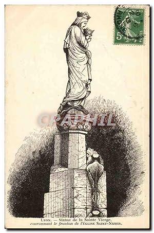 Lyon Carte Postale Ancienne Statue de la