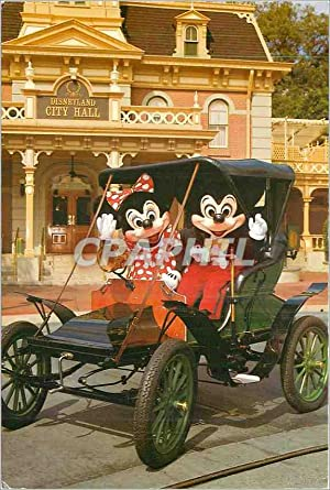 Carte Postale Moderne Touring Town Square Disneyworld Mickey Automobile