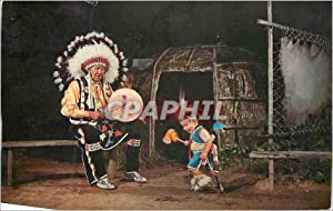 Carte Postale Moderne Youngest contest Dancer stand Rock Indian Ceremonial Wisconsin Dells