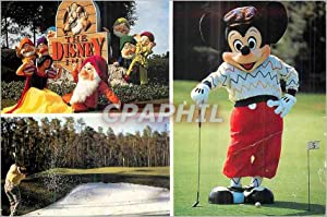 Carte Postale Moderne The Disney a Goofy Round of Golf Disneyland Mickey Blanche Neige
