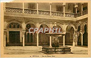 Carte Postale Ancienne Sevilla Casa de Pilatos Patio