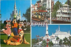 Carte Postale Moderne Magic Monuments in the Magic Kingdom Mickey Minnie Goofy and Pluto Disneyla...