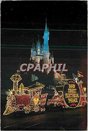 Carte Postale Moderne Main Street Electrical Parade Disneyland Mickey Train