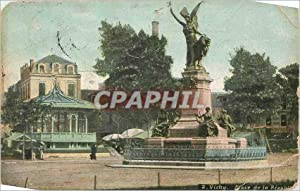 Carte Postale Ancienne Vichy place de la republique