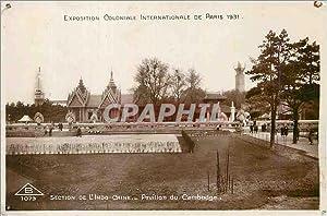 Carte Postale Ancienne Exposition Coloniale Internationale de