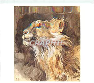 Carte Postale Moderne Eugene Delacroix Tete de