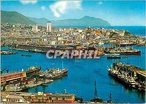 Carte Postale Moderne Genova Panorama et Port