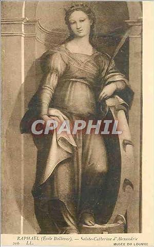 Carte Postale Ancienne Raphael (école italienne) sainte