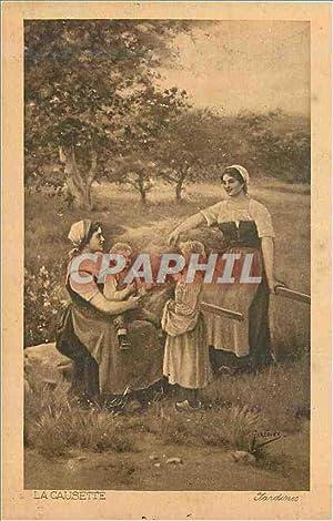 Carte Postale Ancienne La Causette